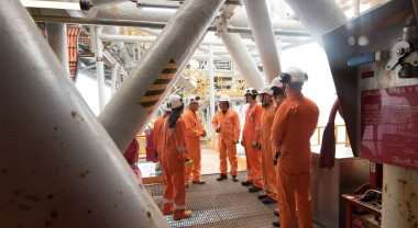 Offshore tour of Esso facilities in Bass Strait