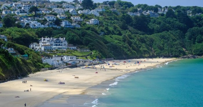 A picture of Carbis Bay, Cornwall, UK.